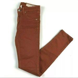 Rag & Bone Legging Jeans 24 Burnt Orange Skinny